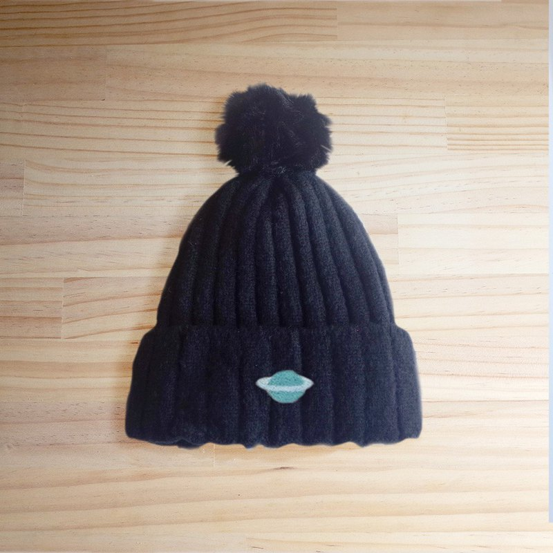 [Q-cute] fur cap series - Saturn ball cap