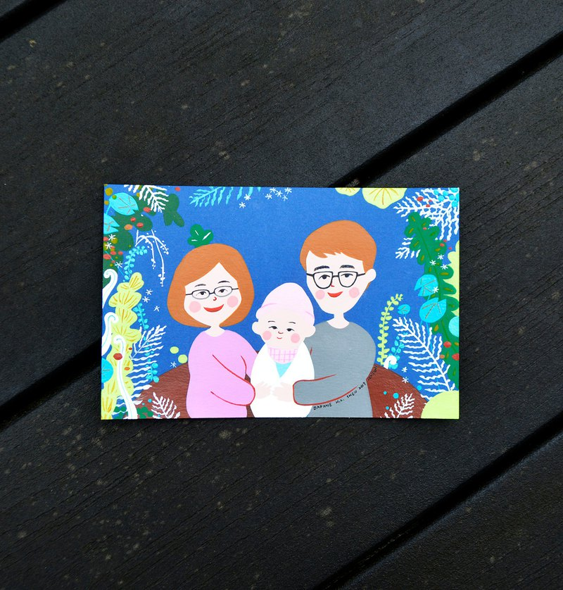 Customized portraits of 3 people in baby series (two exclusive orders for electronic files) Family portrait / Miyue / Infant
