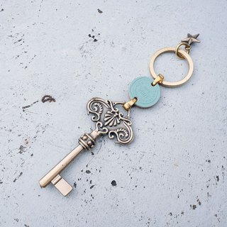 Alice's Door Key - Blue <once upon a time * keychain>
