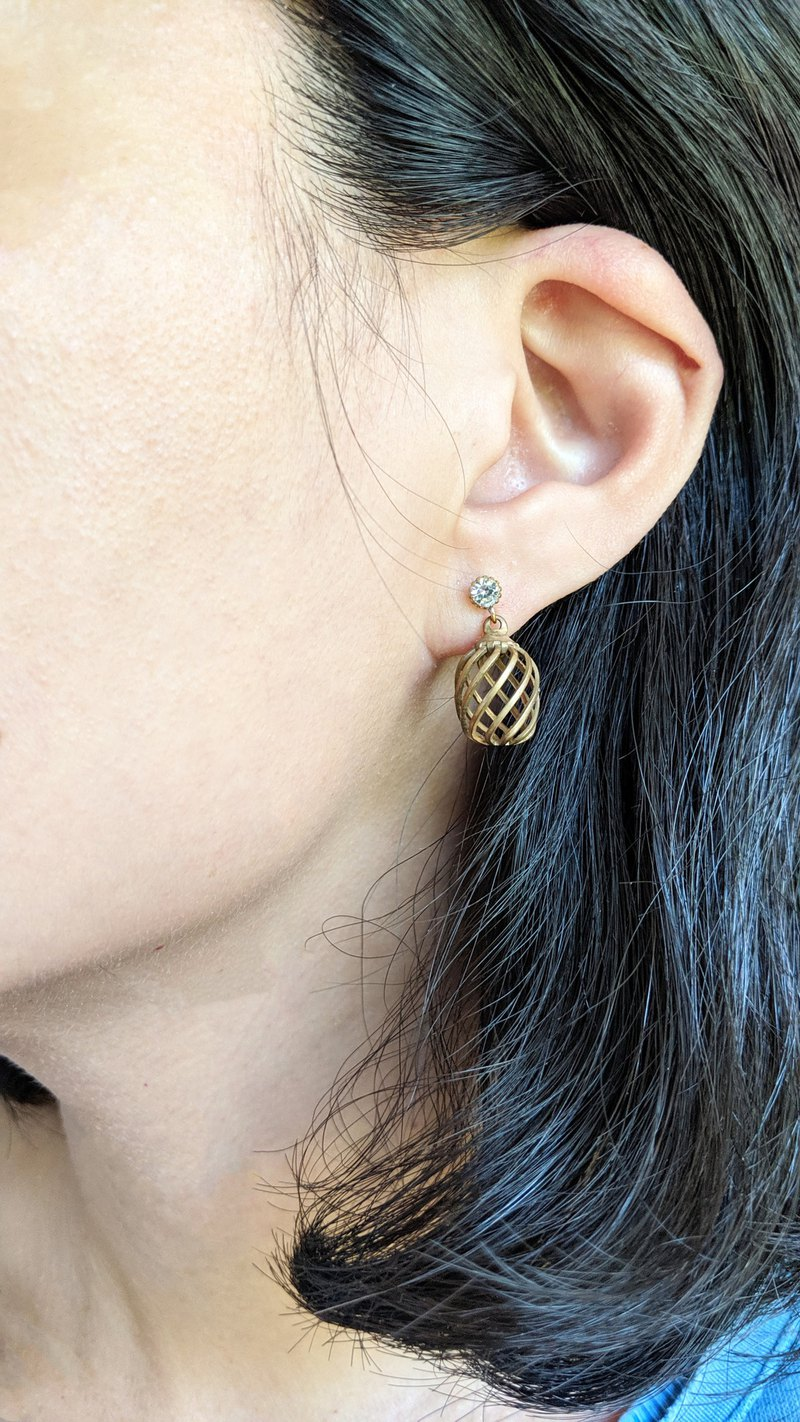 Brass Cage Earrings
