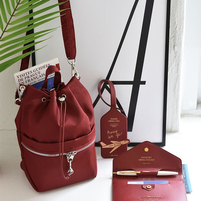 Beautiful holiday storage bucket bag - Bogen Red, PPC94867