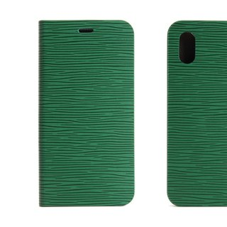BEFINE iPhone X TASCA Leather Side Lift Case - Green (8809402594306)