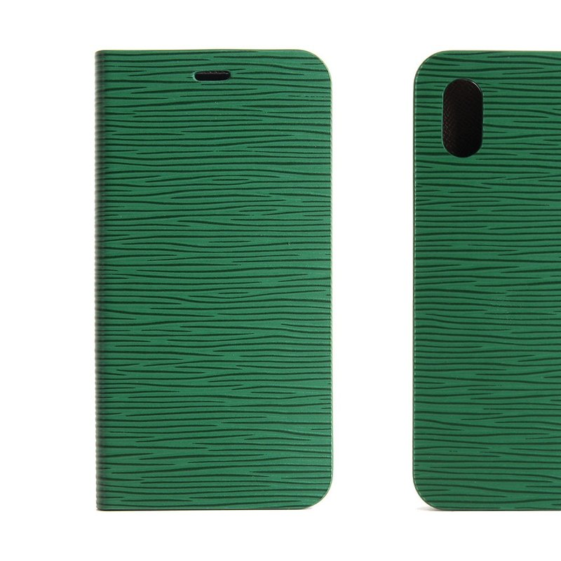 BEFINE iPhone X TASCA Leather Side Cover - Green (8809402594306)
