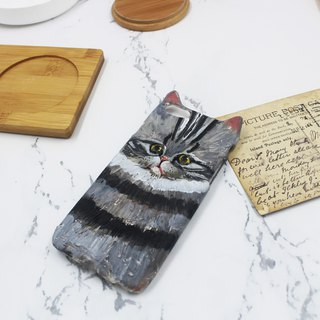 Pinched temperature / cat / phone case / can be customized according to model