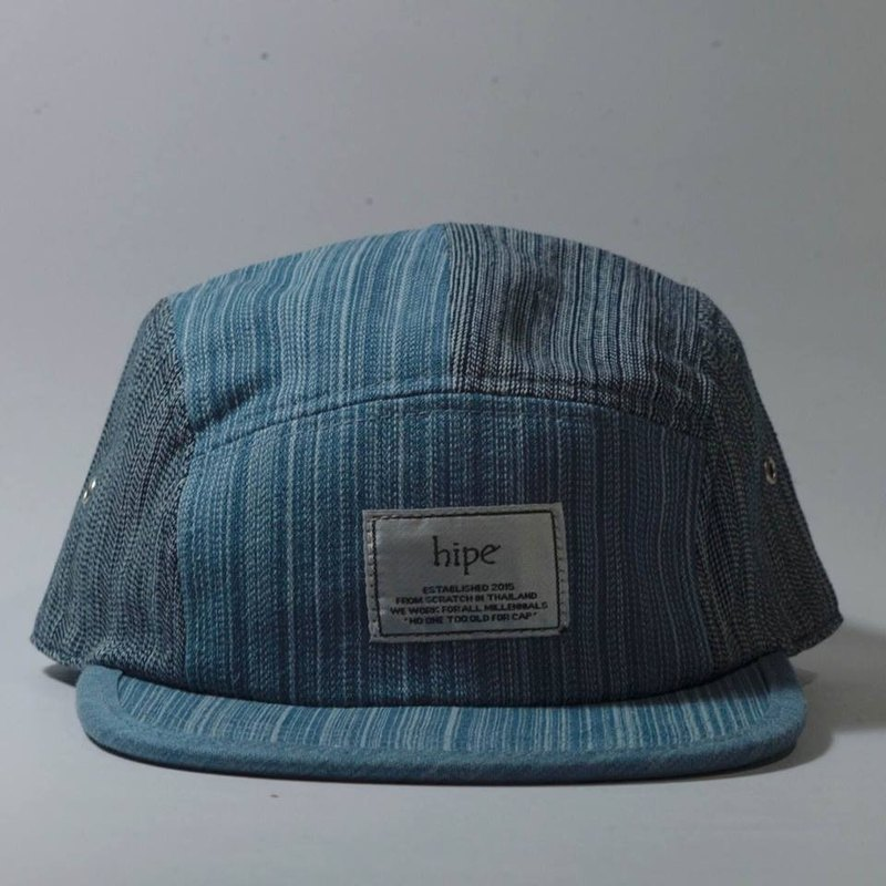 teal and black dashed 5panel cap
