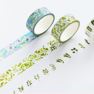 Japanese Pocket and Paper Tape Whole Volume Gift Box Petal Animal Color Handbook Can Tear Sticker 1.5cm3 Volume