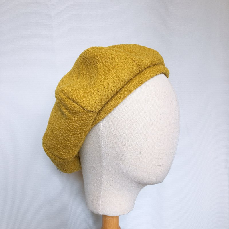 Yellow color octagonal cap