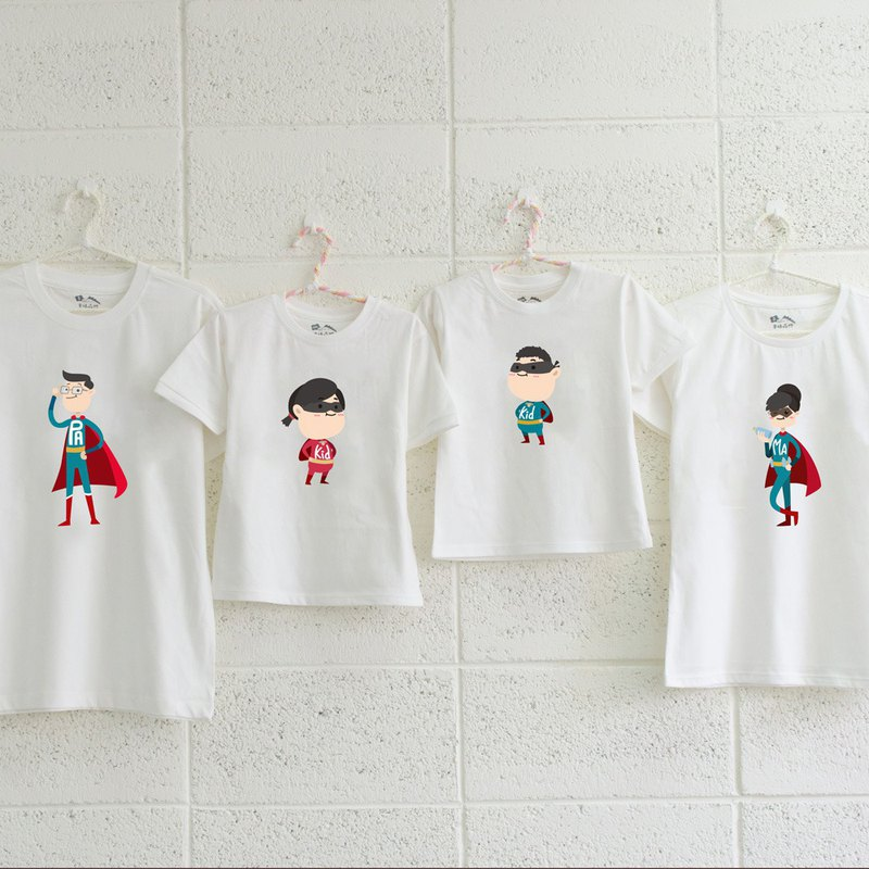 [Family Superman Story] Super Cute Short Sleeve Cotton Parent-child Outfit Memorial Day Gift