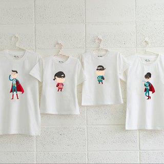 [Family Superman mobilization] warm parent-child wear children's wear short-sleeved T-shirt