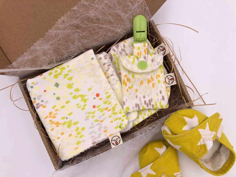Mi Yue gift box - three-piece green color point