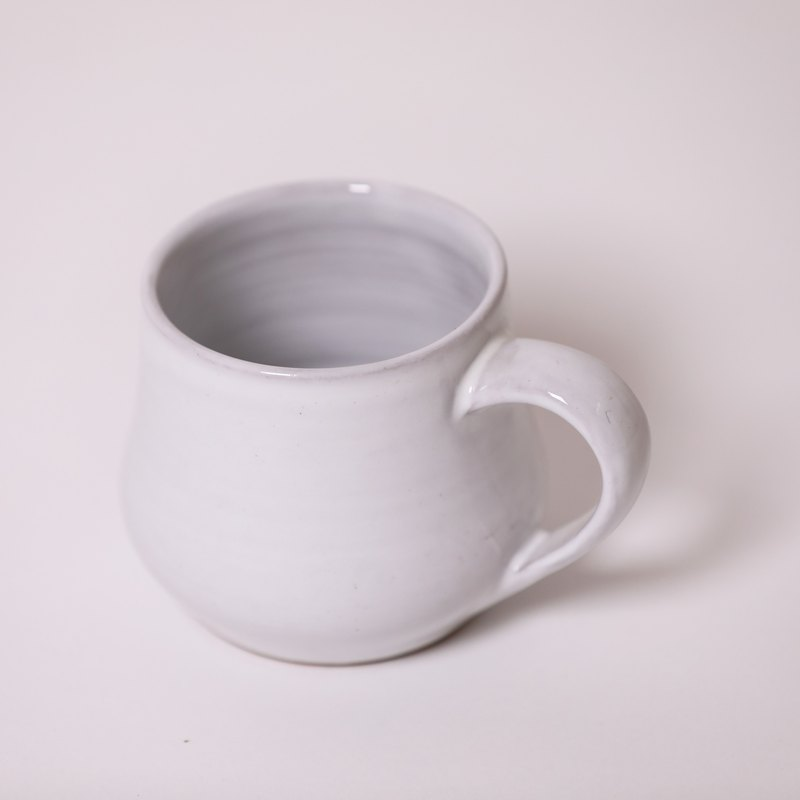 Plump mug - white - fair trade