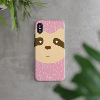 iphone case the pastel pink sloth for iphone5s,6s,6s plus, 7,7+, 8, 8+,iphone x