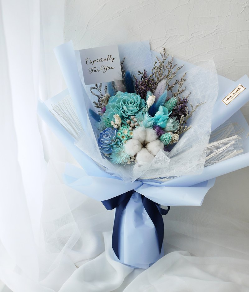 Big bouquet with love name (Valentine's birthday graduation bouquet) - blue