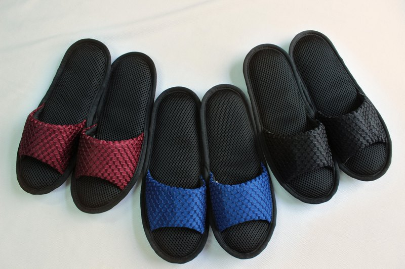 【AC toe large mesh texture】 AC RABBIT-low pressure indoor air cushion slippers (SP-1601D-B) comfortable texture air cushion decompression