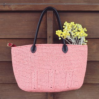 Handmade - Cute Handbag - Pink Orange - Travel / Light Travel / Birthday Gift