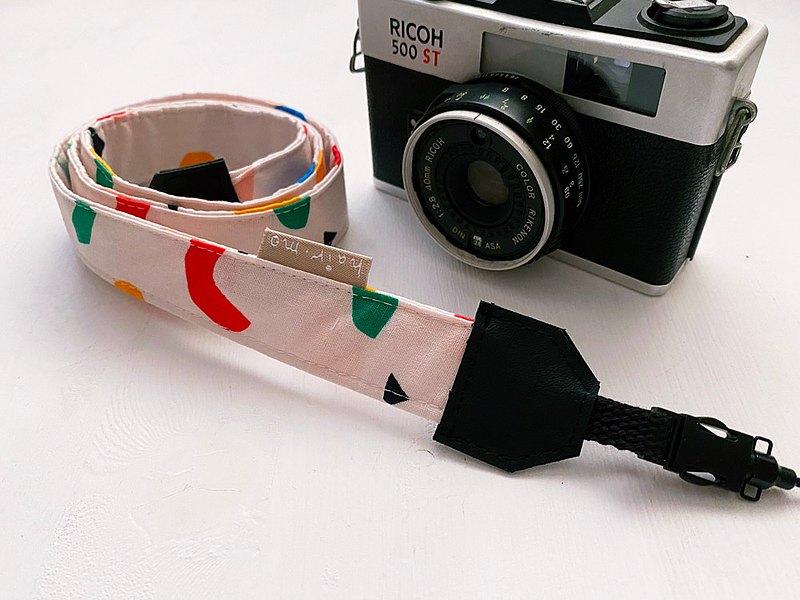 hairmo歡樂彩帶相機背帶/手腕帶-粉(相機/手機/證件)