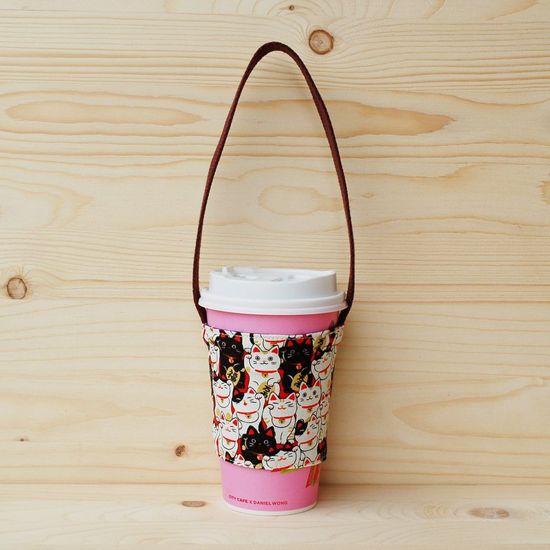 Blessing Lucky Cat Drinking Bag/Cup