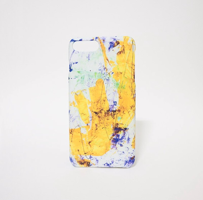 Sprinkled yellow / abstract painting transfer phone shell matte hard shell iPhone case custom