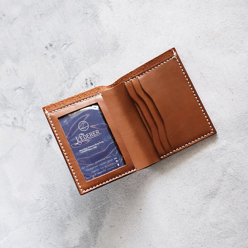 3-Card Photo Mini Wallet | Leather Stitching Pack