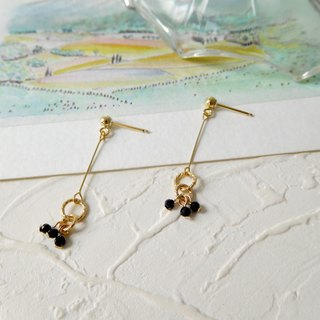 Pack of 14K gold geometric circle spinel earrings can be changed