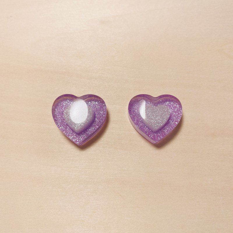 Vintage Purple Candy Love Earrings
