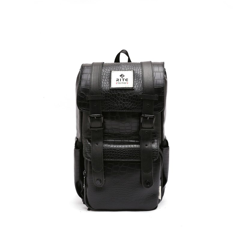 [Twin Series] 2018 Advanced Edition - Traveler Backpack (中) - Black Crocodile