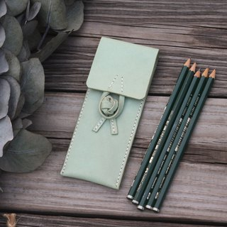 Chinese frog leather pencilcase -- Turquoise color