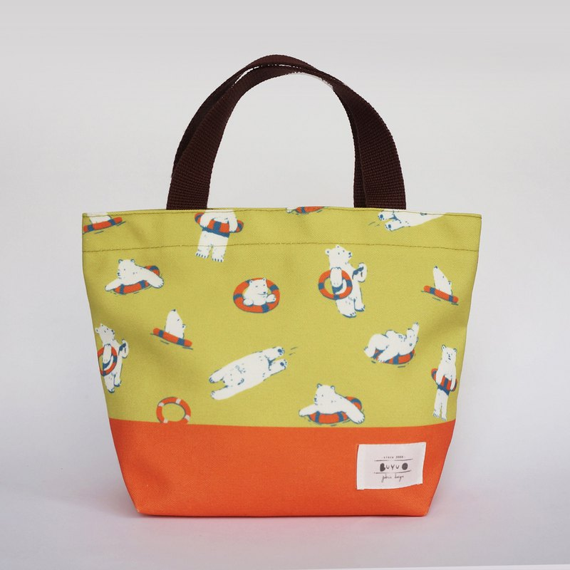 Life series –Tote bag  - polar bear & life buoy