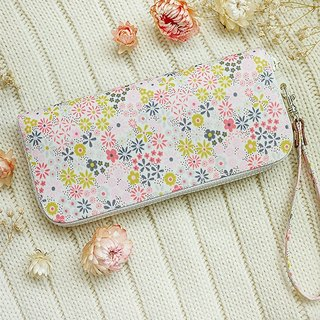 Flower language. Waterproof long clip / wallet / wallet / purse