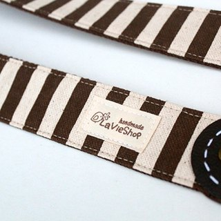 Freshing  Stripe  (Brown) 38mm Handmade Camera strap NEX/DLSR/M43 Customizable