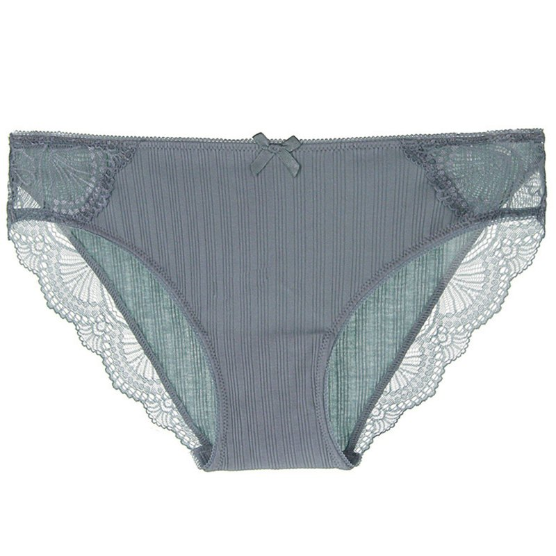 Ribbed soft cotton underwear · bean green