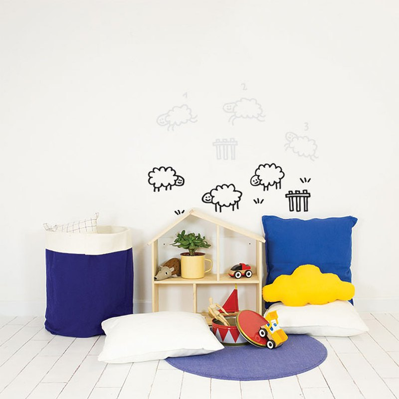 Hand-painted wall stickers luminous (number of sheep)