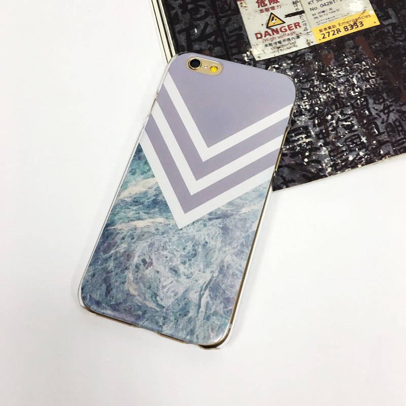 Purple Chevron Marble pattern phone case For iPhone and Samsung