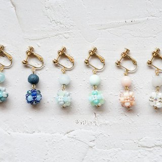 Jin Ping Sugar Series - Crystal Beaded Earrings (Auricular Needle / Ear Clip)