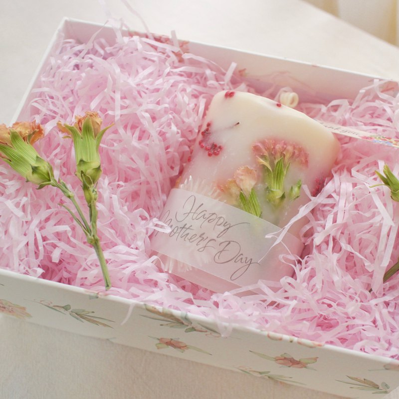 Mother's Day Carnation Dry Flower Scent Candle Gift Box