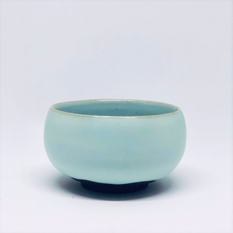 Handmade Azure 汝 Kiln Rong Love Cup (JR003)
