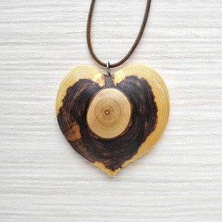 Wooden heart shaped pendant