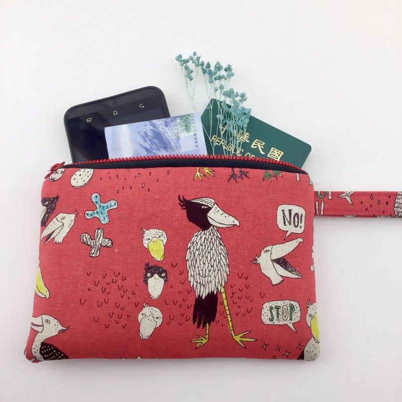 Stay cute bird - money / leisure card / mobile phone with one time