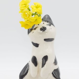 Ceramic cat flower