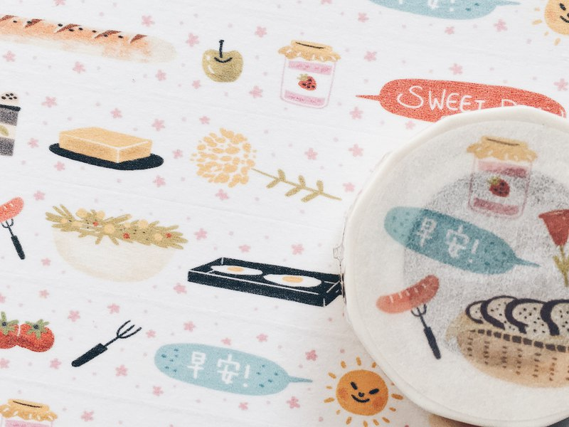 Good morning cute vitality breakfast paper tape