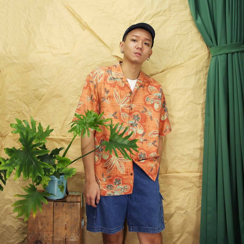 Tsubasa.Y Ancient House A20 Sunset Island Hawaiian Shirt, Flower Shirt Print Summer Top