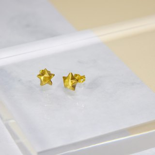 Cute Little Golden Lucky Star Earrings