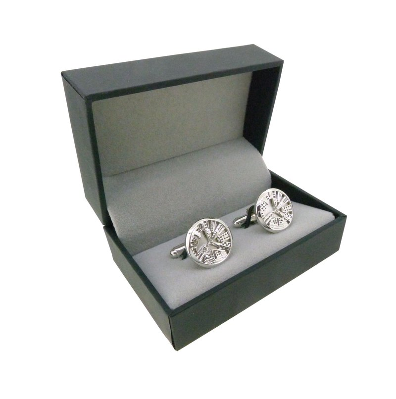 HK256~ 925 SILVER VICTORIA HARBOUR VIEW CUFFLINKS