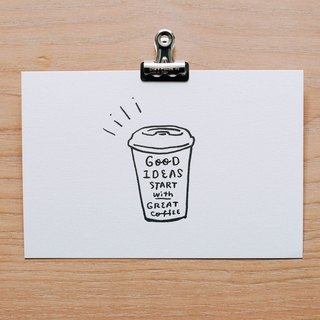 WHOSMING postcard / coffee section - drink well