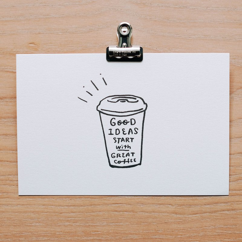 WHOSMING Postcard / Coffee - Good to drink