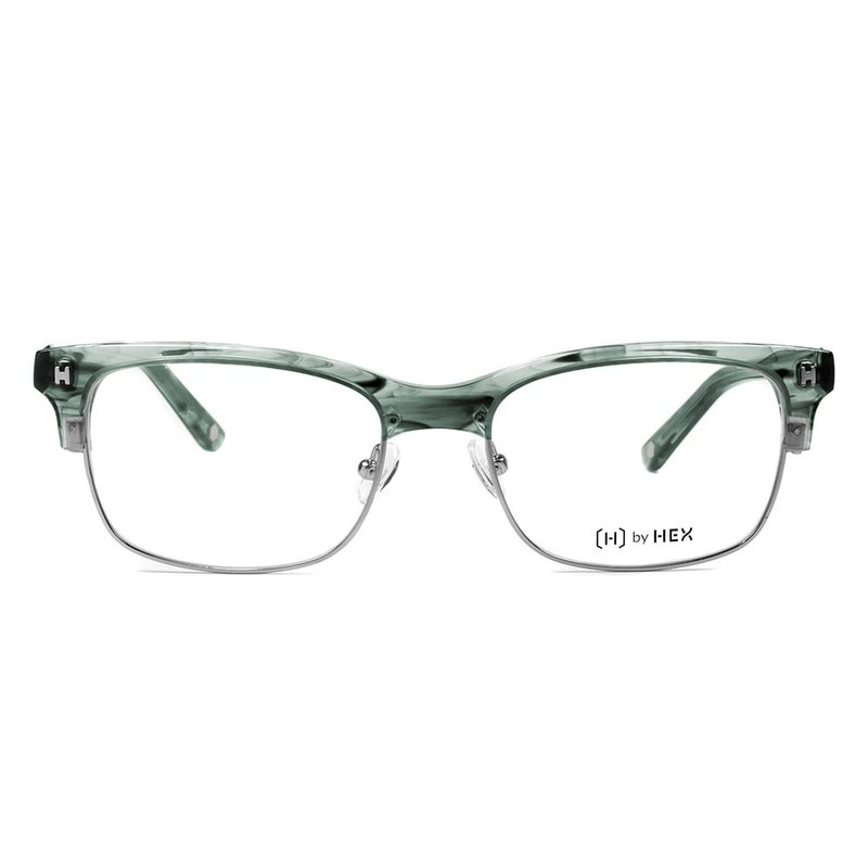 Optical glasses | Green smoked square eyebrow frame | Made in Taiwan | Metal framed glasses