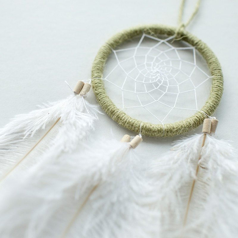 Dream Catcher Material Pack 8cm - Clover (Hemp Grass Green) - Hand made diy gift