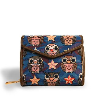 Videos night owl woven jacquard coffee blue envelopes short clip -REORE