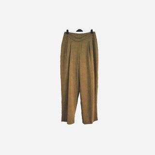Dislocation vintage / mustard green trousers no.753 vintage