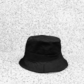 Extremely simple cotton double-sided hand-top flat fisherman hat - black